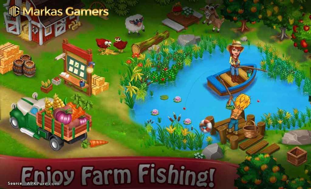 Pertanian Hari Village Pertanian: Offline Game